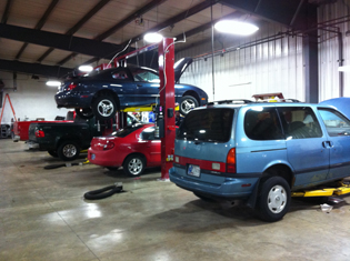 Inside Auto Repair Shop Bay